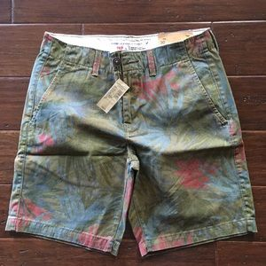 American eagle flat front prep shorts